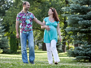 Загородные прогулки на 31 неделе беременности