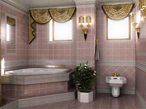 Ремонт в ванной комнате загородного дома