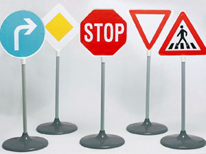 Установка дорожных знаков на земельных участках