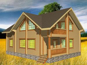 Строительство домов из сухого бруса под ключ на земельных участках