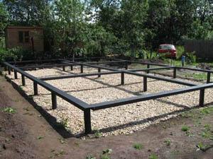 Винтовой и свайный фундамент на земельных участках