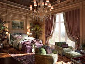 Дорогие спальни для загородных домов