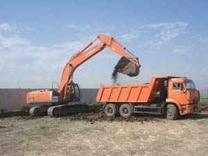 Вывоз мусора с земельных участков