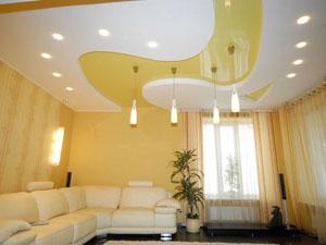 Натяжной потолок в квартире, купленной в Краснодаре