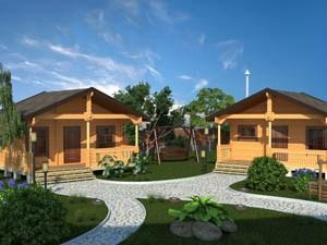 Строительство загородных деревянных домов из клееного бруса