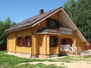 Строительство дома из бревна в Москве и пригороде