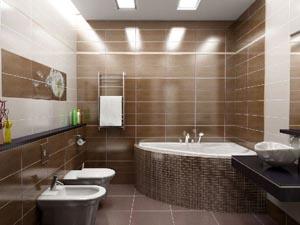 Ремонт ванной комнаты в загородном доме