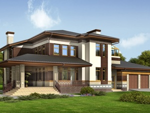 Проектирование фасадов загородного дома