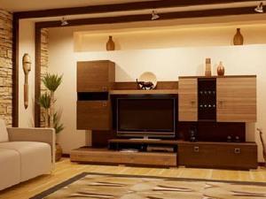 Корпусная мебель для гостиной загородного дома