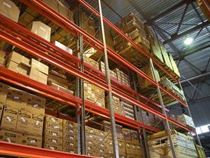 Складской паллетный стеллаж для загородных складов