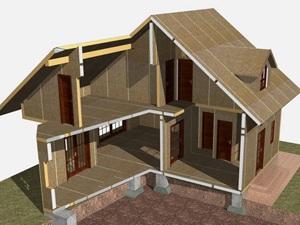 Вкратце о конструкции каркасных домов