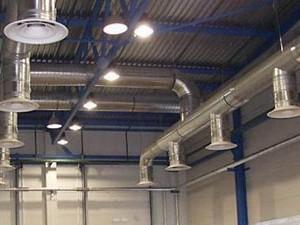 Промышленная общеобменная система вентиляции