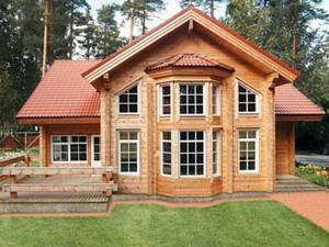 Малоэтажная страна предлагает готовые дома из клееного бруса