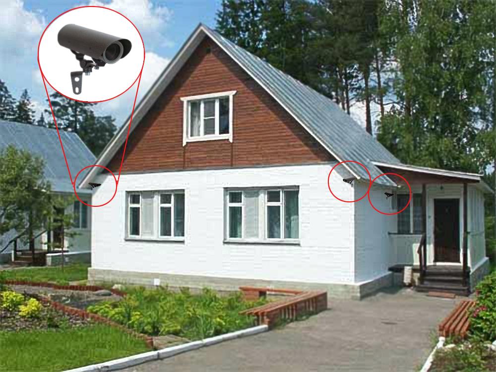 Уличная камера для видеонаблюдения и страховка дома