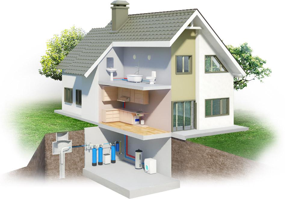 Установка фильтров для воды в загородных домах