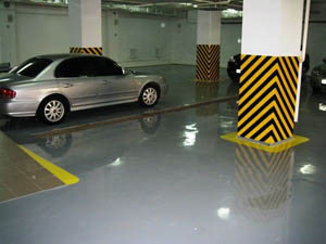 Наливные промышленные полы для гаража