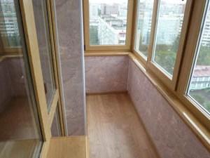 Отделка балконов ПВХ панелями