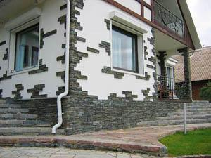 Ремонт фасадов коттеджей, расположенных на земельных участках по Киевскому шоссе
